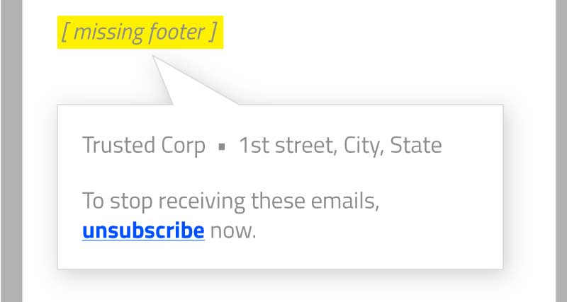 Phishing Email Footer