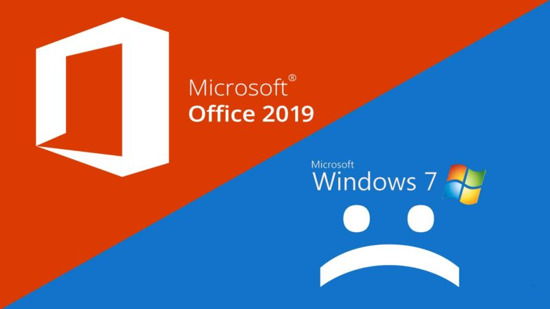 Microsoft office 2019 leaving old windows behind pit for Windows 7 bureau vide