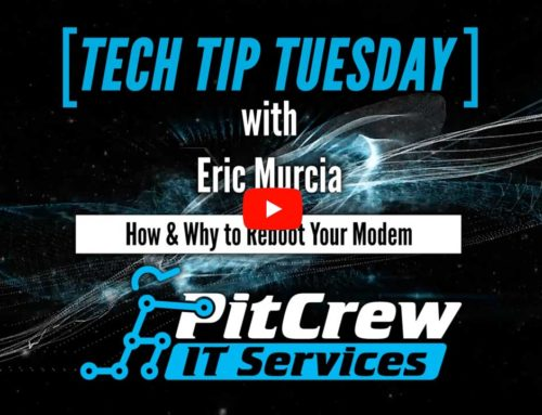 Tech Tip Tuesday – How & Why to Reboot Your Modem