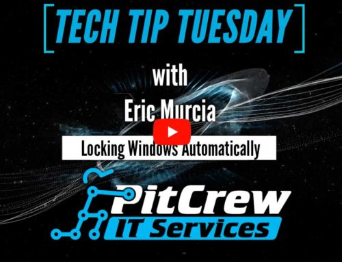 Tech Tip Tuesday – Lock Windows Automatically