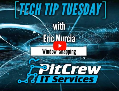 Tech Tip Tuesday – Window Snapping
