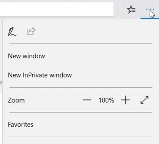InPrivate Browsing in Edge