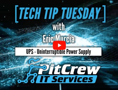 Tech Tip Tuesday – Why you should use a UPS (Uninterruptible Power Supply)