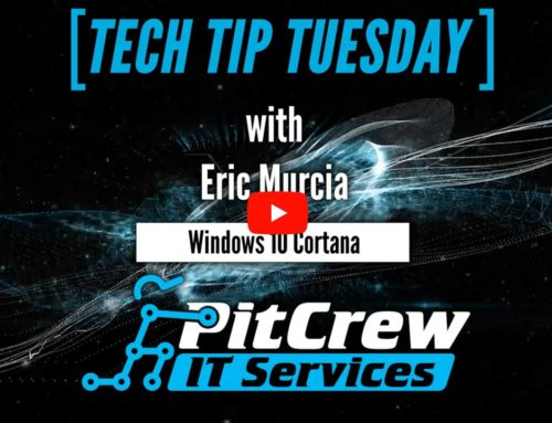 Tech Tip Tuesday – Windows 10 Cortana