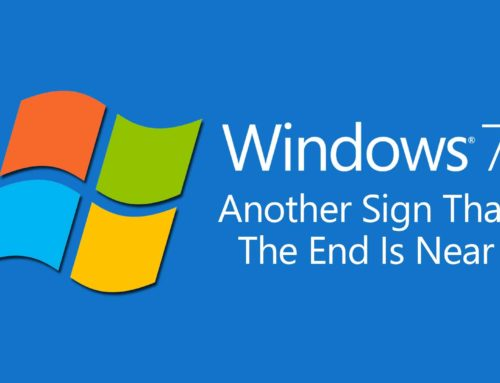 Another Microsoft Sign – Windows 7's End Coming