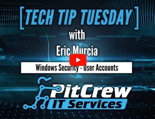 Tech Tip Tuesday – Windows Security – User Accounts