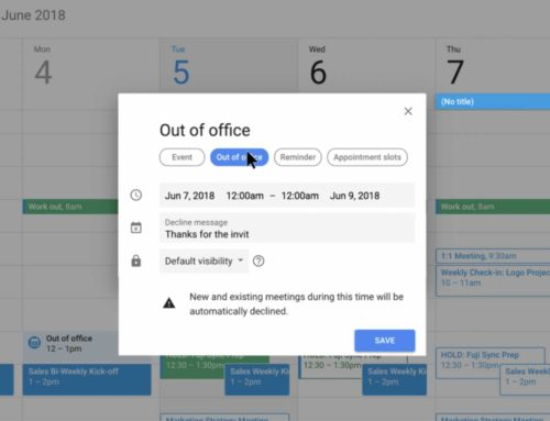Google Calendar – Out of Office & Working Hours