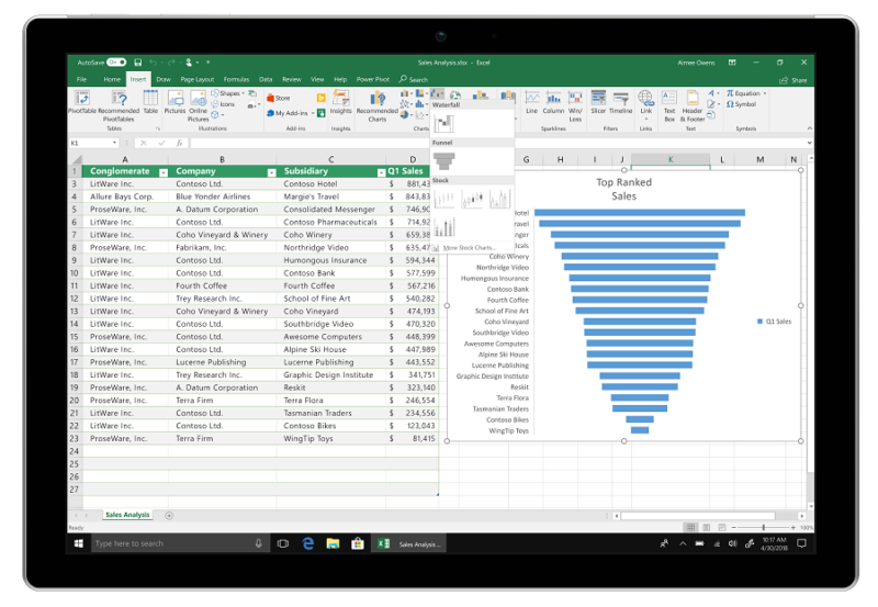 Office 2019 Preview - Excel