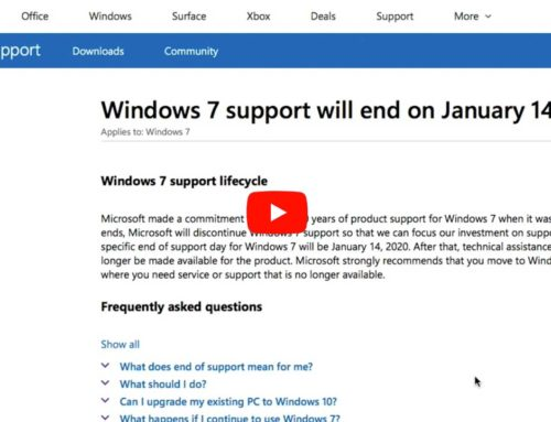 Tech Tip Tuesday – Windows 7 Support Ending