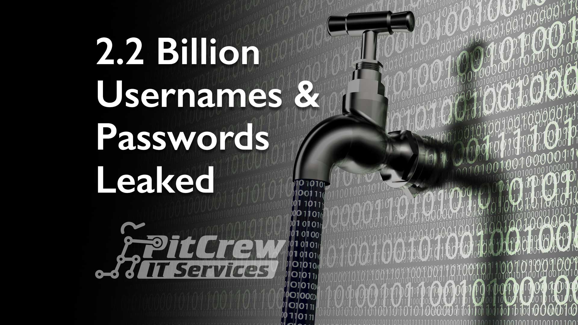 2.2 Billion Usernames & Passwords Leaked