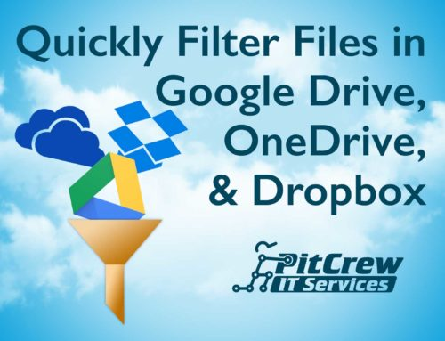 Quickly Filter Files in Google Drive, OneDrive, & Dropbox