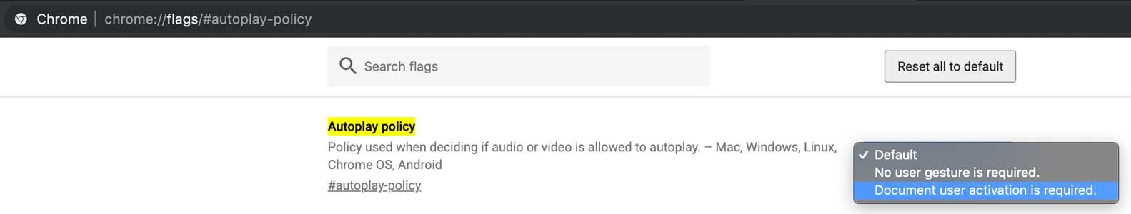 Stop Autoplay Videos - Chrome