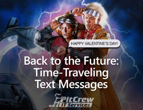 Back to the Future: Time-Traveling Text Messages