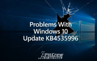 Problems With Windows 10 Update KB4535996