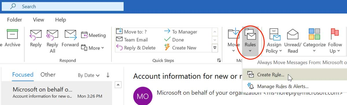 6 Microsoft Outlook Tips - Rules