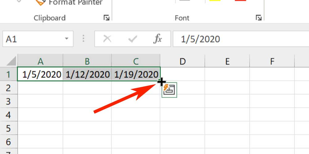 Microsoft Excel Tips - Fill Handle